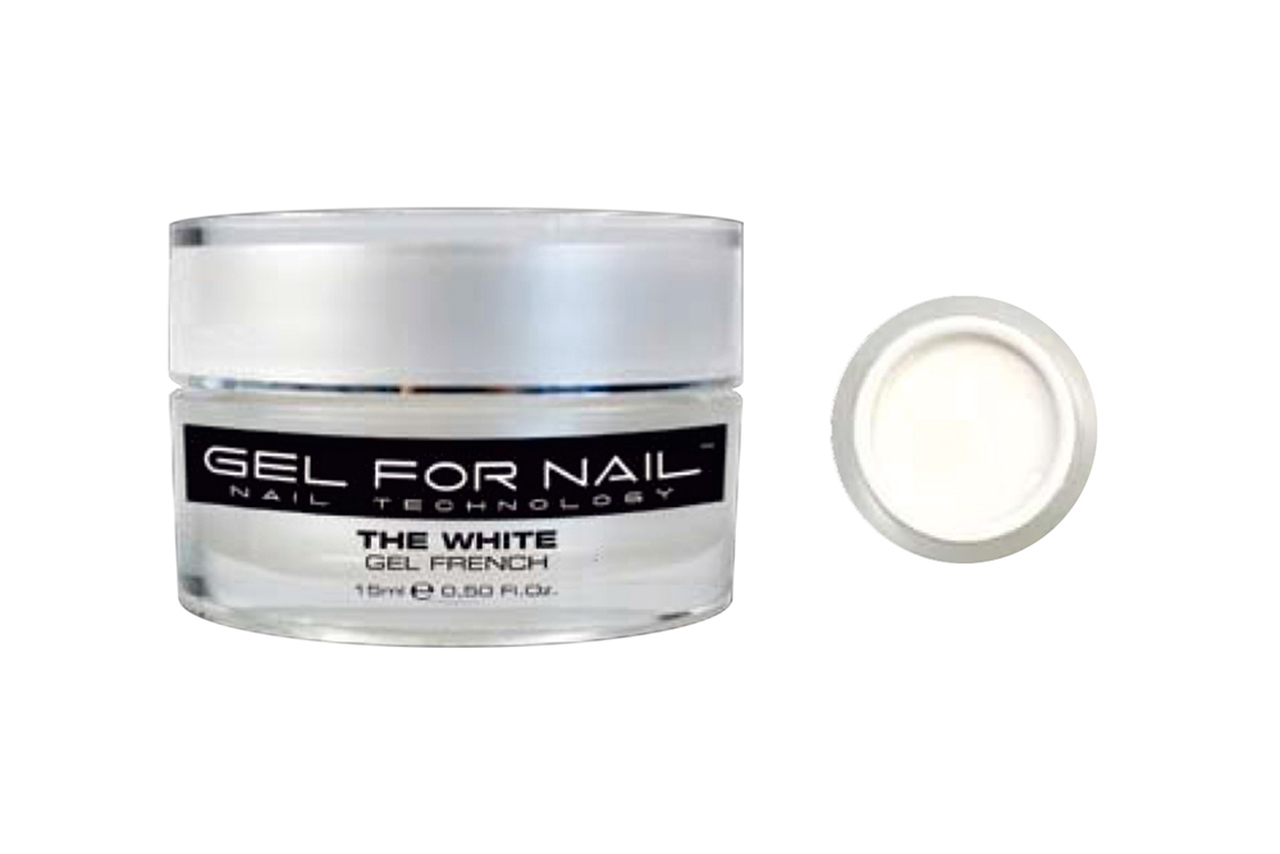 Gel Uv Unhas Gfn French Branco Natural 15 ml