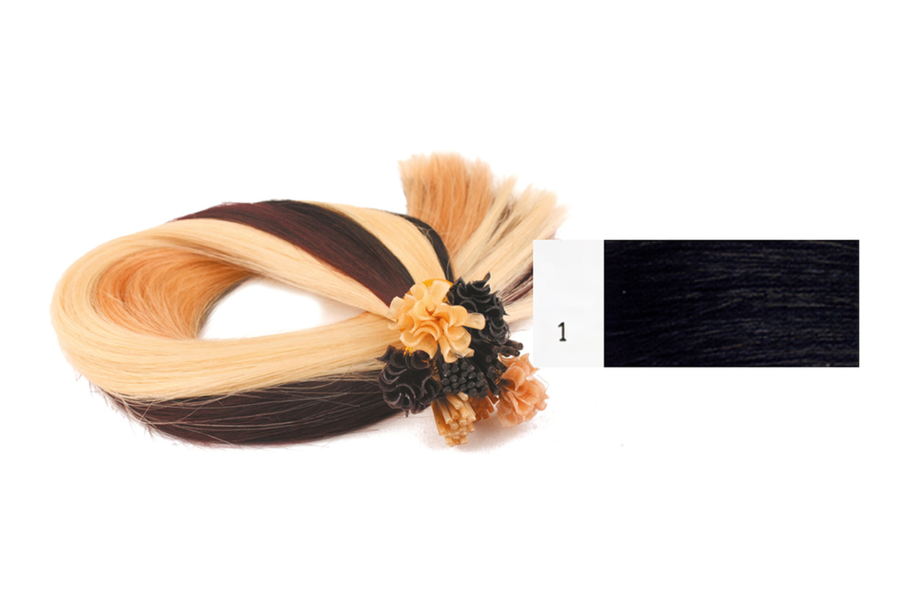 Extensões Cabelo 100% Humano Kayextensions Natural 1 55 cm 50 Unidades