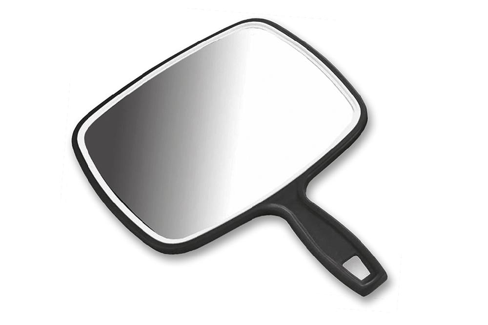 Espelho Com Pega Preto