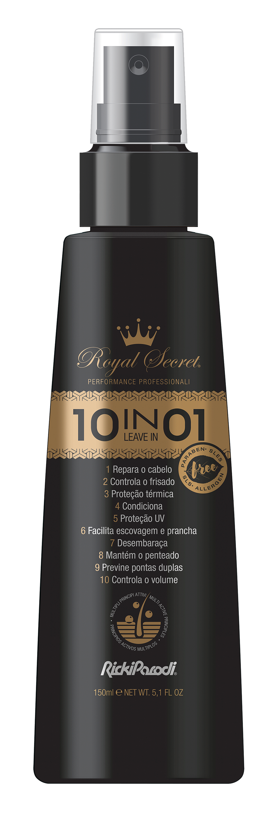 Leave In Capilar Rickiparodi Royal Secret 10 Em 1 150 ml