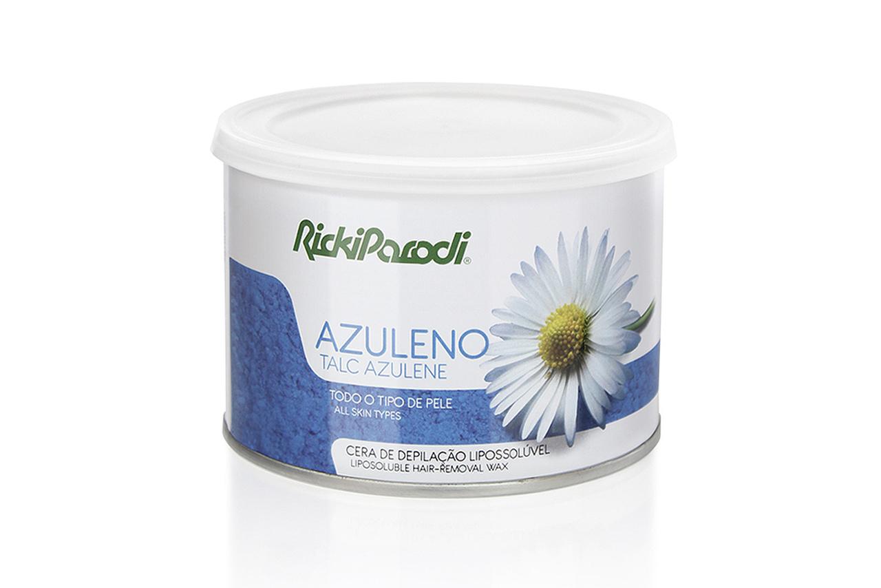 Cera Depilatória Lipossolúvel Rickiparodi Azuleno Talco 400 ml