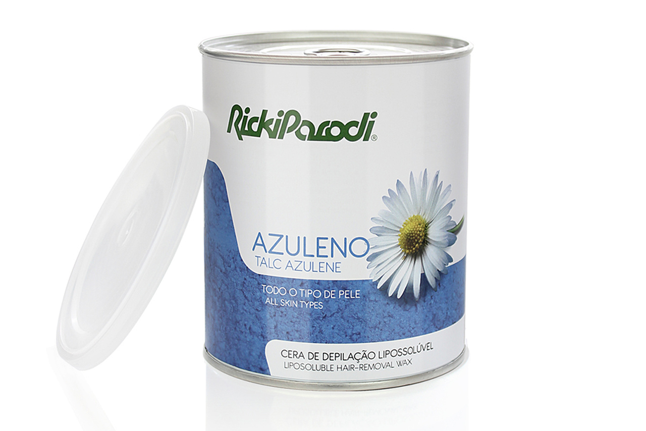 Cera Depilatória Lipossolúvel Rickiparodi Azuleno Talco 800 ml